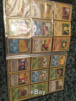 Collection De Cartes Vintage Pokémon: Beaucoup De Cartes Rares + Holo, Dossier De Plus De 100 Bases Wotc