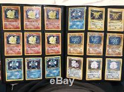 Collection Énorme Carte Pokémon De Base Rare Holos Charizard, Blastoise