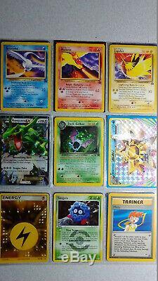 Collection Vintage & New Pokemon Binder Carte 300+ Lot Chardizard & Holos Rares