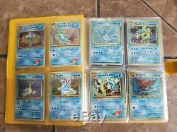 Collection Vintage Rare Carte Pokemon Holo Japonais Lot Avec Binder