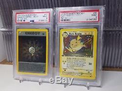 Complet Psa 9 Mint Team Rocket 1ère Édition Holo 18 Card Set Secret Rare Pokemon