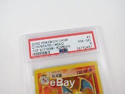 Coréen Charizard 1ère Édition Base Set Psa 8 Nm Pokémon Mint 4/102 Holo Rare