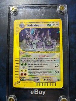 Cristal Nidoking 150/147 Aquapolis Holographic Rare Carte Pokemon Lumière Jouer