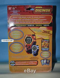 Digimon Digivice D Tector Us Ver 1.0 Red Col Nouveau Avec Des Cartes Rare Un Seul