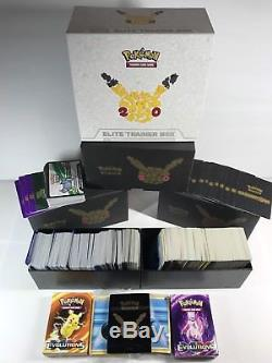 Énorme Collection De Cartes Pokemon 1200+ Commun, Rare, Rare, 117 Holofoil + Plus
