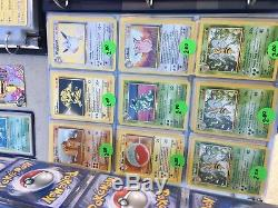 Énorme Collection De Cartes Pokémon (4500+ Cartes, 6 Cartables) Holos Rares Charizard Base