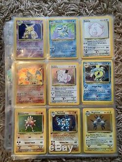 Ensemble Complet De Cartes Pokemon De Base 102/102 Great Condition! Ensemble Complet