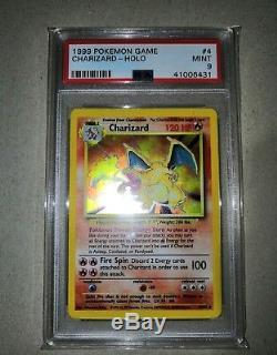 Ensemble De Base Charizard Holo Psa Mint 9 Cartes Pokemon Classées Rares À Collectionner