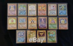 Ensemble De Base Complet Pour Carte Pokemon 1999 Wotc Holo 102/102 Rare Charizard Blastoise
