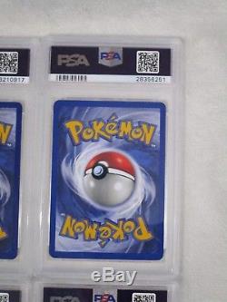 Ensemble De Base Illimité Lot 16 Psa 9 Mint Holo Rare Pokemon Cartes Charizard