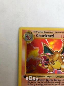 Ensemble De Cartes De Base Pokémon 1st Edition Shadowless Charizard Ultra Rare! Vg