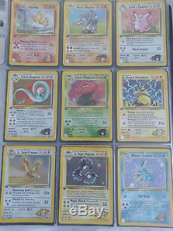 Ensemble De Cartes Pokemon Gym Hero / 132 Complet 1ère Édition