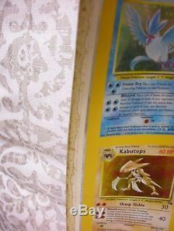 Ensemble Pokemon Tcg Fossil Holos, Feuille Partielle Uncut, 100 Cartes, Bon Cond, Rare