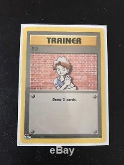 Entraîneur Bill 91/102 Pokemon Original Base Card Set Collection 1999 Édition Rare