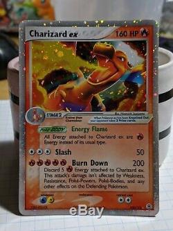Ex Charizard Ex 105/112 Feu Feuille Rouge Carte Verte Pokemon Holo Feuille Ultra Rare