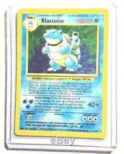 Exc Pokemon Aucune Étape Blastoise Carte Base Set 2/102 Rare Holo Erreur / Misprint Ap