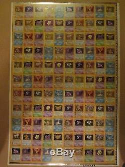 Feuille Holographique De Pokemon Uncut Très Rare Uncut! Cartes Fossil Tcg