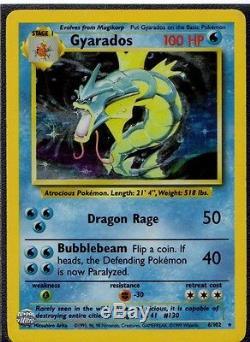Gyarados 1999 Carte De Pokémon Holographique Rare Original # 6/102