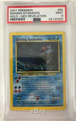 Gyarados Brillant Neo Revelation 65/64 Psa 9 Mint Rare Holo Carte Pokémon