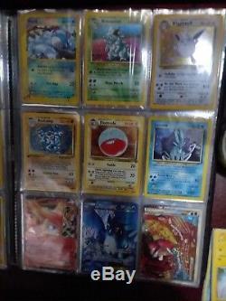 Holo Pokemon Card Lot Liant Lire La Description! Rares À L'arrière Du Livre