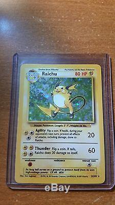 Holographique Raichu Original 1999 Base Set 14/102 Pokemon Card Hologramme Holo # 26