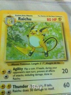 Holok Raichu Original 1999 Base Set 14/102 Pokemon Card Rare