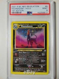 Houndoom 8/64 Neo Apocalypse 1ère Édition Psa 9 Mint Rare Holo Carte Pokemon