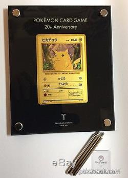 Japon Pokémon Centre 20ème Anniversaire 24 Carat Or Pikachu Carte Promotionnelle