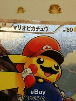 Japonais Carte Pokemon 2016 Mario Pikachu 294 / Xy-p Holo F Promo / S En Provenance Du Japon