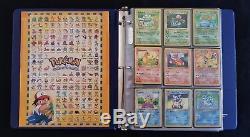 Jeu Complet Complet Original De 151 Cartes Pokemon Shadowless Very Rare 50+ Holo 1ère Éd