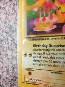 Joyeux Anniversaire De La Carte Pikachu Pokémon Tail Stamp Promo Error Misprint Rare
