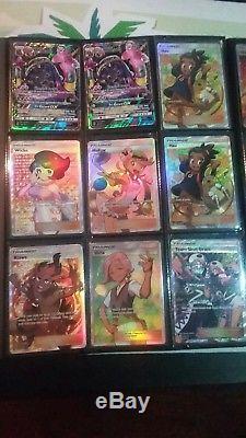 Le Pokemon Ultra Rare Ex Gx Secret Rares Lot De 46 Cartes! Lumière Jouée À Nm