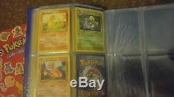 Lot De 3 Mini Reliures De Cartes Pokemon Avec Base Partielle Complète 1ère Eds Holos + Look