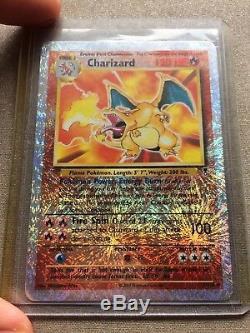 Lot De 64 Rare Carte Charizard Pokémon Collection Shadowless Topsun Holo Signé