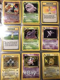 Lot De 95 Cartes Vintage Pokemon Holo, Ensemble De Base Sans Ombres, Tous Sont Rares
