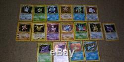 Lot Pokemon Vintage Cartes De Base 400ish Plus De 40 Rares Ensemble À Des Ensembles De Gymnastique. 17 Holographiques