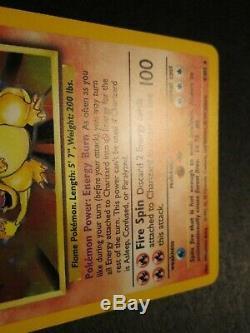 Lp Pokemon Dracaufeu Carte Base Set 4/102 Illimité 1999 Holo Rare Ap