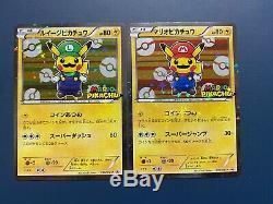 Mario Luigi Pikachu Set Carte Pokemon Japonais 293 / Xy-p Promo Holo Rare Pcg