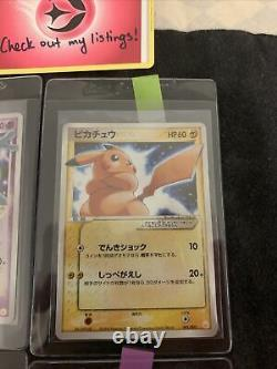 Mewtwo Pikachu Gold Star Mew Set Japonais Pokemon Carte 1 2 3 6 Promo Mint Psa
