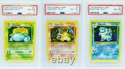 Mint Charizard Blastoise Venusaur Set Cartes Pokemon Collection Base De Holos / 102