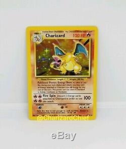 Mint Holo Fond Perdu Charizard Base Rare Ensemble Collection Holo Carte Pokemon 4/102