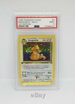 Monnaie Première Édition Holo Rare Dragonite Carte Pokemon Set Fossil 4/62 1er Ed Foil