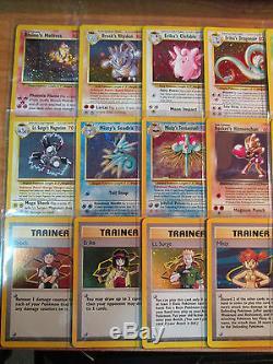Nm Complet Pokemon Gym Hero Set De Cartes / 132 Tous Holo Rare Full Collection Complète
