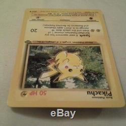 Pikachu Rare Card Original 1995 État Neuf 50 Ch 60/64