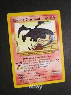 Pl Pokemon Shining Charizard Card Neo Destiny Set 107/105 Secret Rare Holo Ap#1