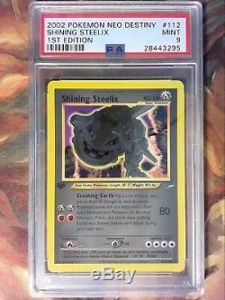 Pokemon 1ère Édition Neo Brillante Destinée Steelix Psa 9 Mint Secret Rare Carte # 112