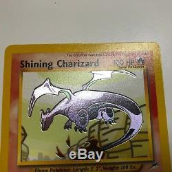 Pokémon 1x Charizard Brillant 107/105 Holo Rare Card Néo Destiny Nm / Lp