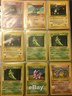 Pokemon Base Set 1ère Édition Lot De Cartes Sans Ombre De 55 (incl. Holos & Rares)