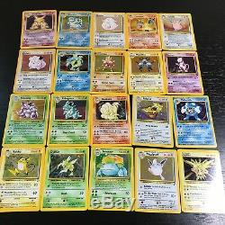 Pokemon Base Set 2 Unlimited Complete 20 Cartes Holo Rare Set Nm-ex