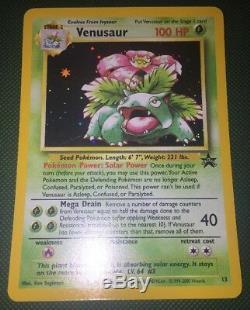 Pokemon Black Star Promo Card # 13 Venusaur Holo Ultra Rare